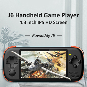J6 Handheld Game Console 4.3 inch IPS HD Screen Pocket Game MP5 Player with 16GB TF Card Built-in 2000 Classis Games