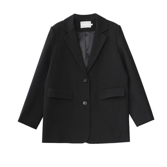 New Autumn Suit Jacket Female Spring And Blue Double-breasted Casual Temperament Ins Slim Black Suits Coats 6