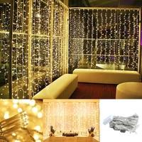 Guirnalda LED de 3x1/3x 2/3x3m para cortina, luces de cascada, adornos navideños para el hogar, adornos de Año Nuevo, decoración navideña