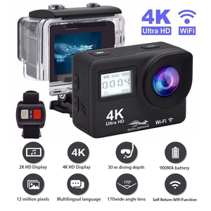 Image 1 - Ultra HD 4K Action Camera WiFi Remote Control Sports Video Camcorder DVR DV Go Waterproof Pro Camera 2 inch Touch Screen Cam