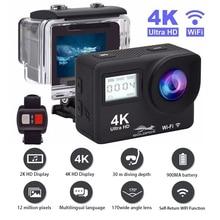 Ultra HD 4K פעולה מצלמה WiFi שלט רחוק ספורט וידאו מצלמת וידאו DVR DV ללכת עמיד למים פרו מצלמה 2 אינץ מגע מסך מצלמת