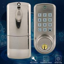 Zinc Alloy Electronic Password Lock Anti-theft Home Security Door Lock With 2 Mechanical Key