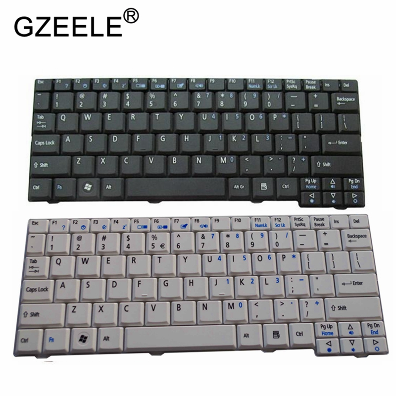 GZEELE New FOR ACER Aspire One D150 D250 KAV10 KAV60 A110 KAV60 KAVA0 D150 ZG5 ZG8 523H P531H N214CM-2 US English Keyboard