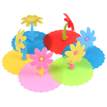 Cover Lid Cups-Containers Water-Drinking-Cup Anti-Dust Silicone Cute for Pans Bowls 1pc