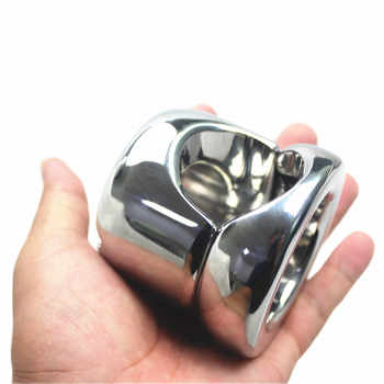 Heavy Top Stainless Steel Scrotum Weight Pendant Penis Restraint Locking Testis Weight Chastity Device Penis Ring Sex Toy B2-66 - DISCOUNT ITEM  52% OFF All Category