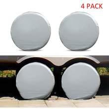 4 pçs universal capa de pneu roda automóvel à prova ddustágua dustproof para camper motorhome caminhão roda cobre protetor sol filme alumínio