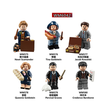 6pcs Set  Harry Series Potters Moody Trolley Witch Ron Weasley Lupin Susan Bones Building Block Figures Children Toys