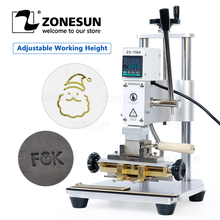 ZONESUN ZS110A New Heat Press Machine Manual Digital Hot Foil Stamping Machine PVC Card Leather Bag Wallet Phone Case Embossing