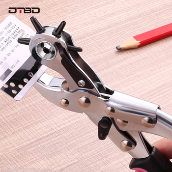 Punch Plier Hole Punching Machine Round Hole Perforator Tool Make Hole Puncher For Watchband Cards Leather Belt