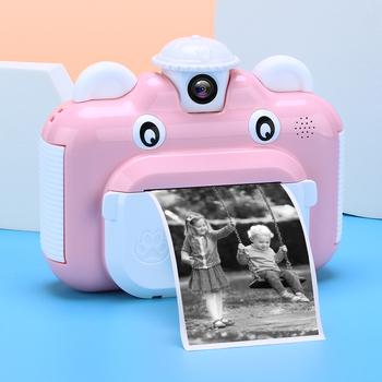 Dziecko Instant Print Camera dzieci drukowanie aparatu dla dzieci cyfrowe zdjęcie z kamery zabawki tanie i dobre opinie JJRC Z tworzywa sztucznego CN (pochodzenie) 3 lat 7 4V 1200mAh battery Unisex Children Instant Print Camera Na baterie