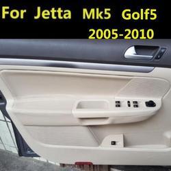 Capa de couro de microfibra para apoio do braço, para vw jetta mk5 golf 5 2005 2006 2007 2008 2009 2010 11 com acessórios de montagem
