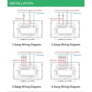 Image 4 - Wifiスマートライトスイッチガラススクリーンタッチパネル音声制御ワイヤレス壁スイッチリモートalexaとgoogleホーム1/2/3/4ギャング