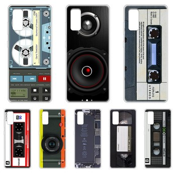 Magnetic tape Battery CD Transparent Phone Case cover hull For SamSung Galaxy S 7 8 9 10 11 20 a 20e 50 51 70 71 Plus Edge Ultra image