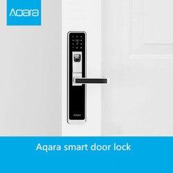 Aqara WiFi czytnik linii papilarnych inteligentny zamek do drzwi zapewniający bezpieczeństwo w domu-srebrny i czarny do inteligentnej aplikacji