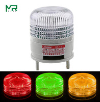 1 layer Three colour Strobe Signal Warning light 24V LED With alarm device  CNC machine tool warning light  red yellow green|Indicator Lights| |  -