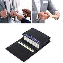 Nowe mody czarne oryginalne męskie kobiety skórzane rozbudowy wygoda praktyczne karty kredytowe stojak na wizytówki portfel etui