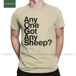Any One Got Any Sheep Settlers Of Catan T Shirt Men Cotton T-Shirts Crewneck Board Wheat Sheep Wood Game Tee Short Sleeve(China)