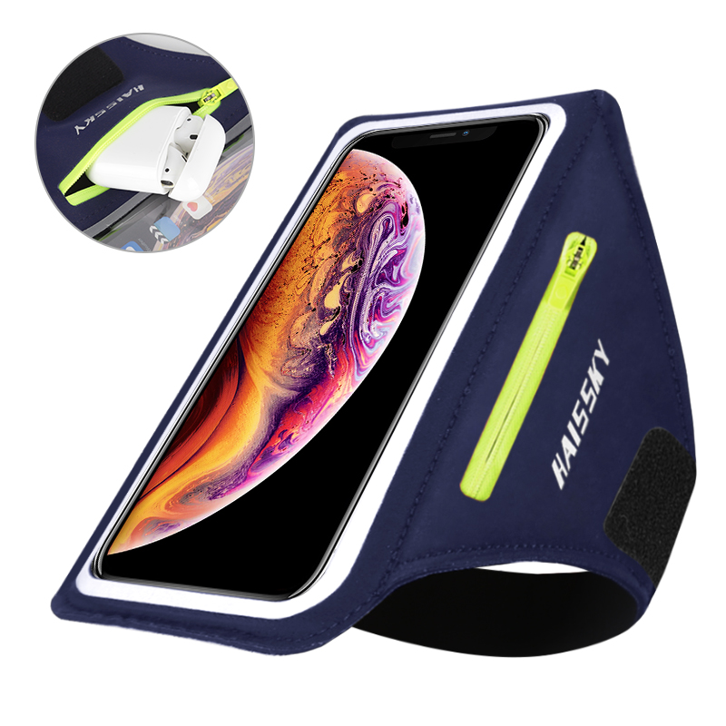 Running-Armbands Zipper-Pouch Airpods-Pro iPhone Sports Xiaomi Samsung for GYM S20 8-Plus