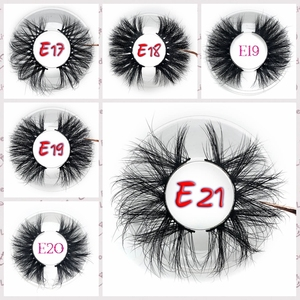 Image 4 - Mikiwi 25mm 50 pairs Free logo Mink Eyelashes Wholesale 16 styles round case custom packaging Label Dramatic 25mm 3D Mink Lashes