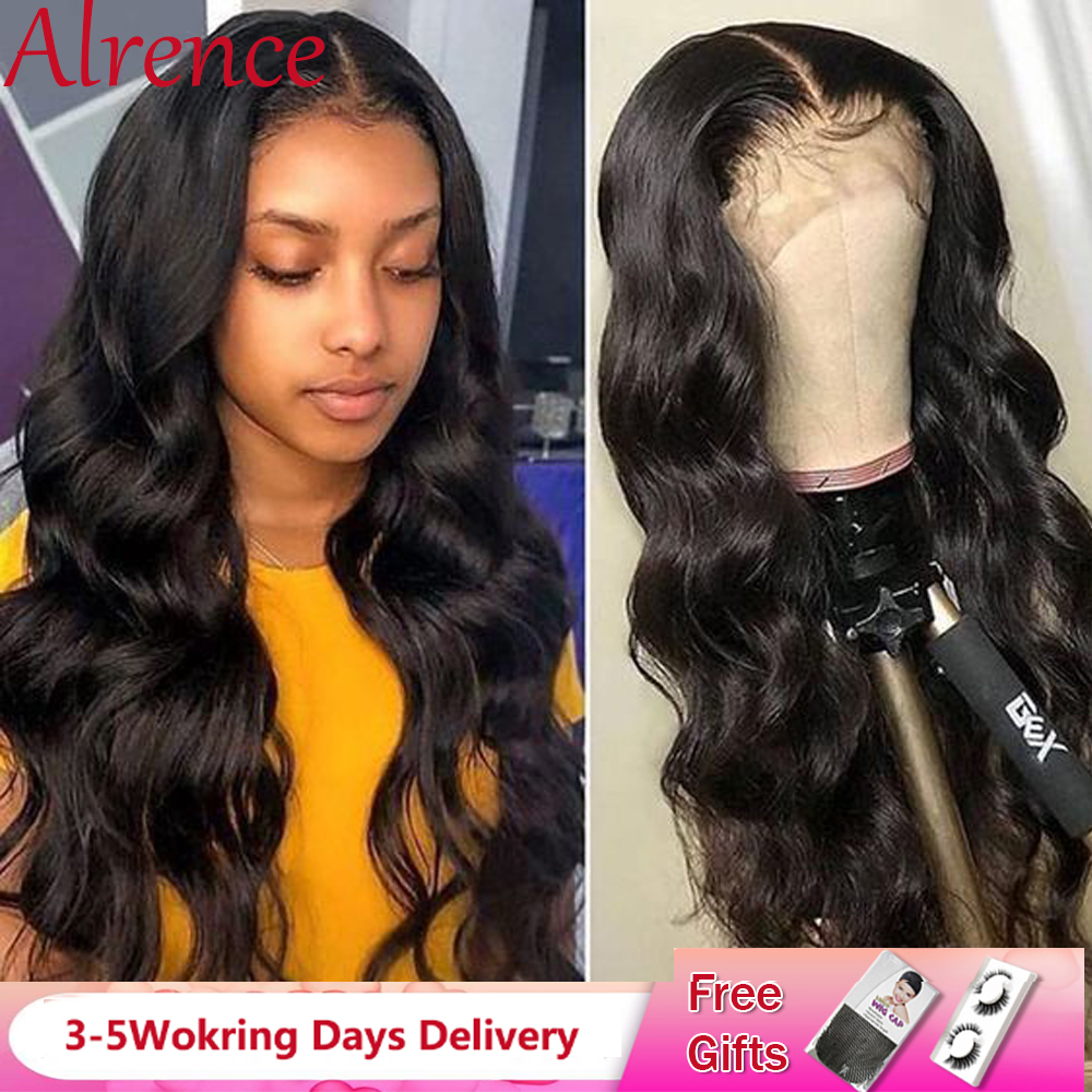 Glueless Body Wave Lace Front Human Hair Wigs For Women13X4 / 360 Brazilian Body Wave Human Hair Wig Pre Plucked Lace Front Wig