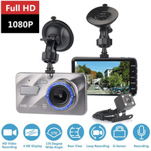 цена на Dash Cam Driving recorder Dual Lens Car DVR Camera Full HD 1080P Front+Rear Night Vision Video Recorder Parking Monitor Auto