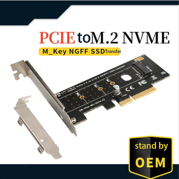 PCI-E to M.2 expansion card PCI Express to M.2 (NGFF) SATA SSD adapter adapter card adapter m 2 ngff m key ssd nvme card adapter pci express with power failure protection 4 0f super capacitor to pci e 3 0 x4