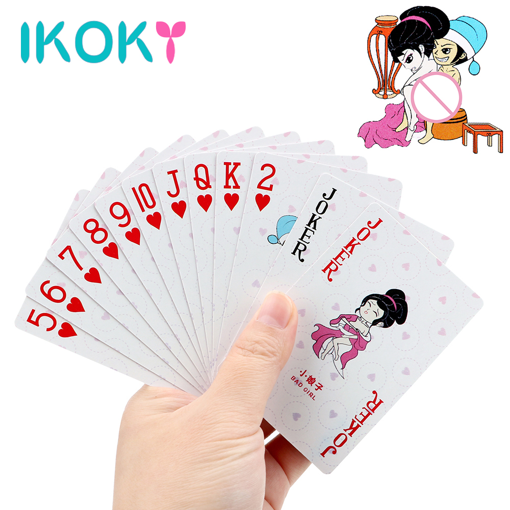 IKOKY Sex Poker Love Sexy Posture Adult Game Sex Toys For Couples Erotic Toys Funny Bar Playing Card Game Sex Products Gifts