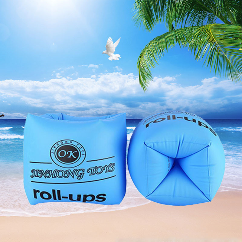Kids Child Swimming Ring Arm Ring Inflation Floating Sleeve Adult Portable Aid Bands Arm Swimming Pool Float Ring Brachii