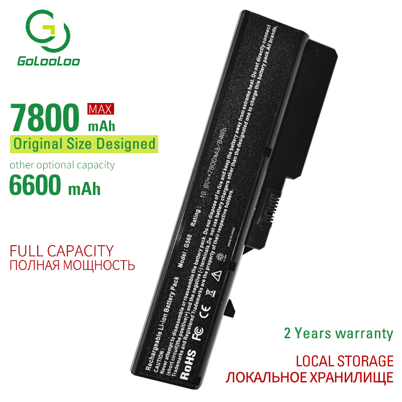 Golooloo 9 Cells Laptop Battery For <font><b>Lenovo</b></font> G460 G560 G465 E47G b570e V360A Z370 K47A <font><b>Z560</b></font> L09L6Y02 L09S6Y02 L10P6F21 LO9S6Y02 image