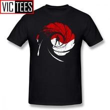 Мужская футболка с иконографией Джеймса Бонда, 100% хлопок, Классическая футболка с принтом