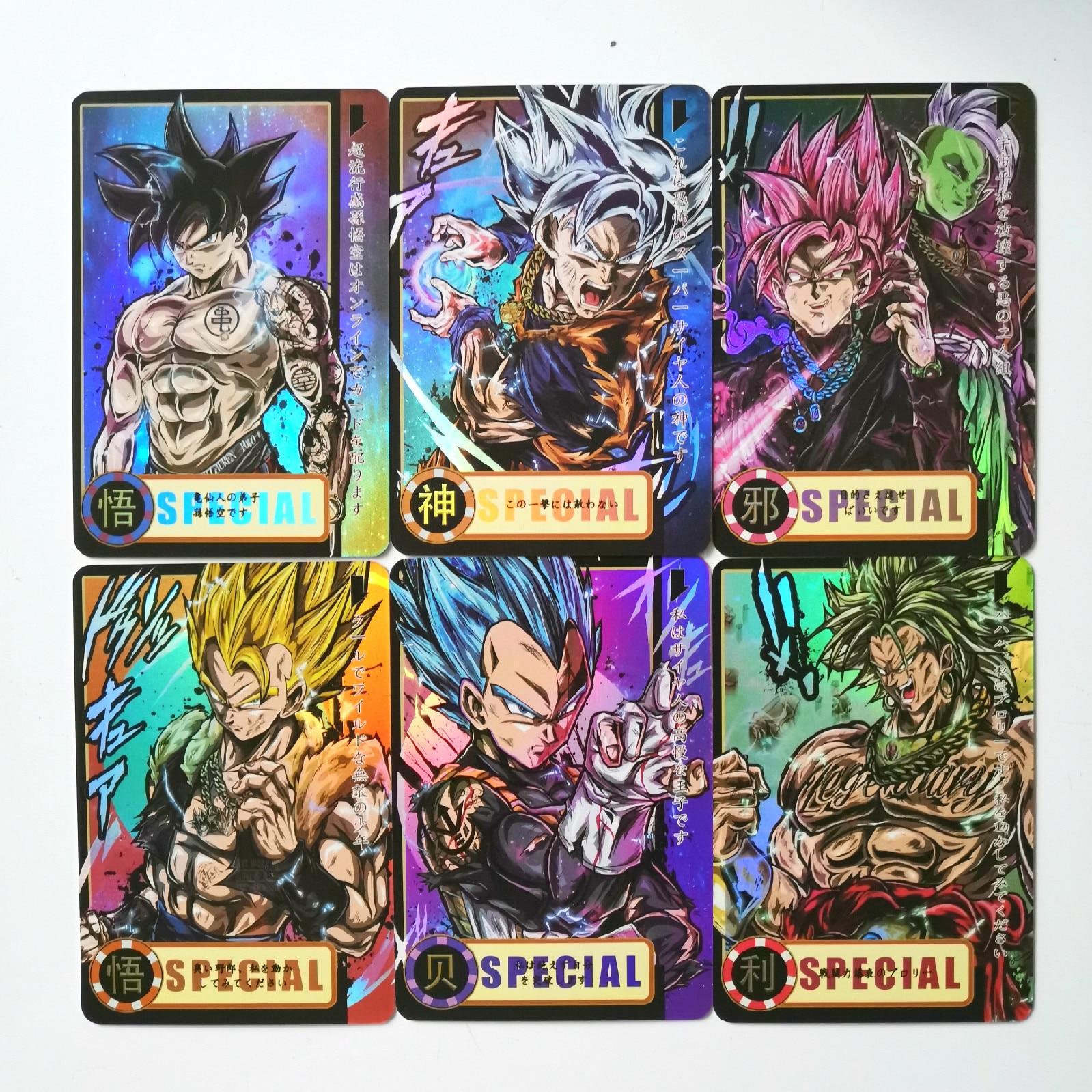 13pcs/set Super Dragon Ball Z Heroes Battle Card Ultra Instinct Goku Vegeta Game Collection Cards