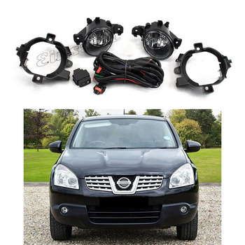 Fog Light Assembly Kit For Nissan X-Trail 2008-2010 12V Front Bumper Car Headlight Bulb Daytime Running Light With Cover Switch