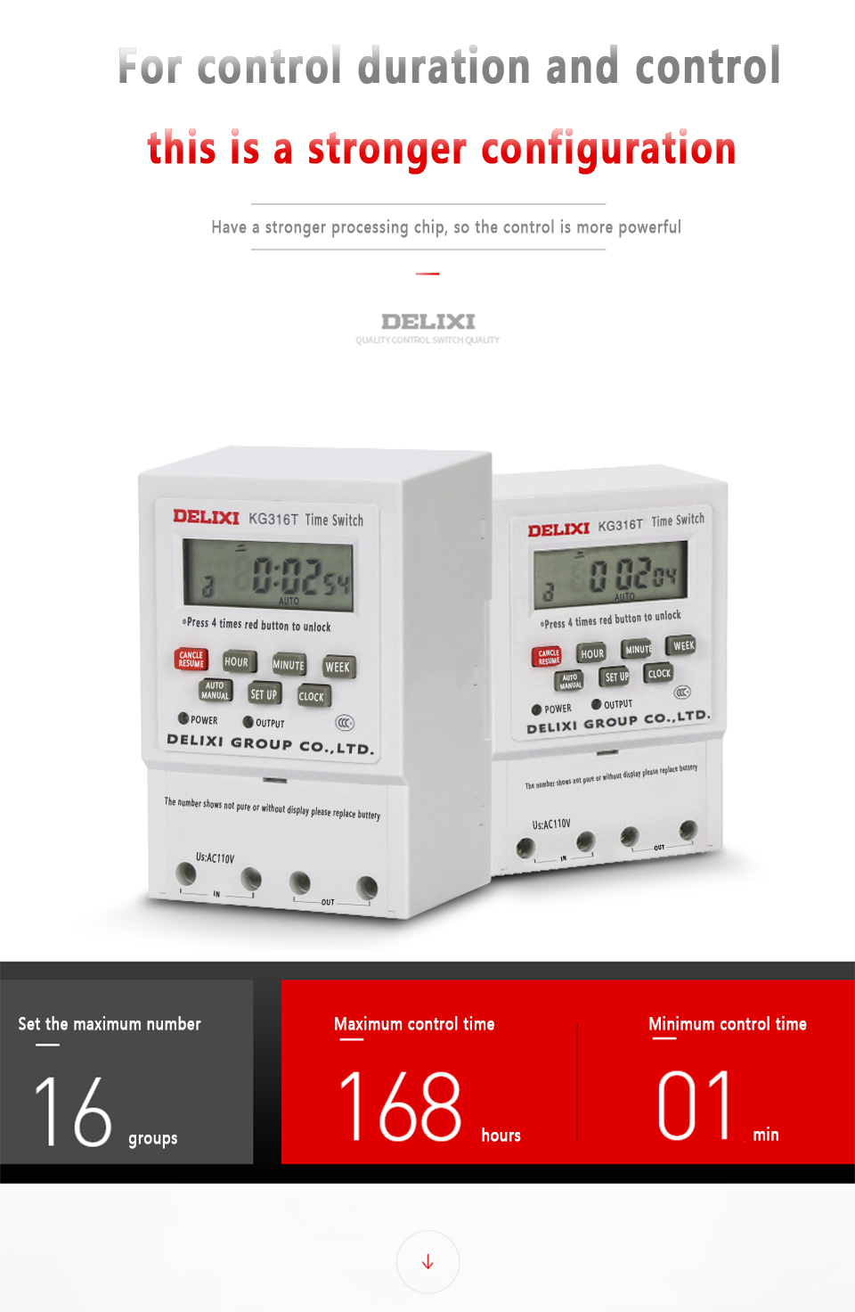 24V Power LCD Digital Weekly Eletrônico 7