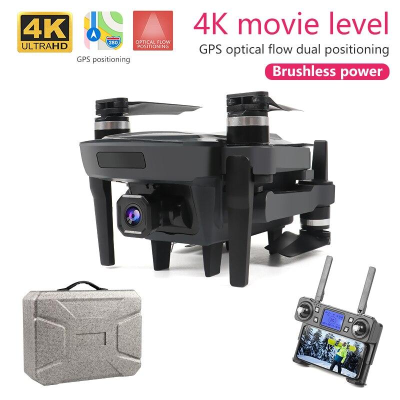 XKJ Новый Дрон K20 бесщеточный мотор 5G gps Дрон с 4K HD двойной камерой Профессиональный складной Квадрокоптер 1800 м радиоуправляемая игрушка - 5