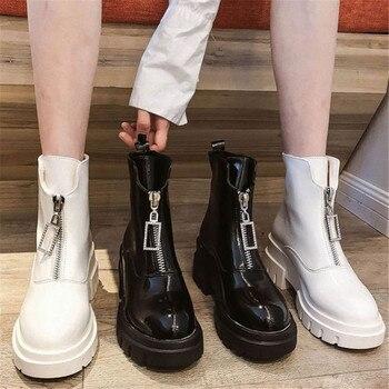 De cuero de las mujeres Botas de invierno, además de terciopelo zapatos...