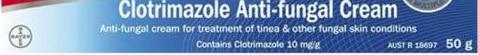 Clotrimazole Cream 50g Treatment Of Tinea Fungal Skin Conditions