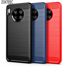 Silicone Case For Huawei Mate 30 Lite Pro ShockProof Fitted Carbon Fiber Soft TPU Phone Cover