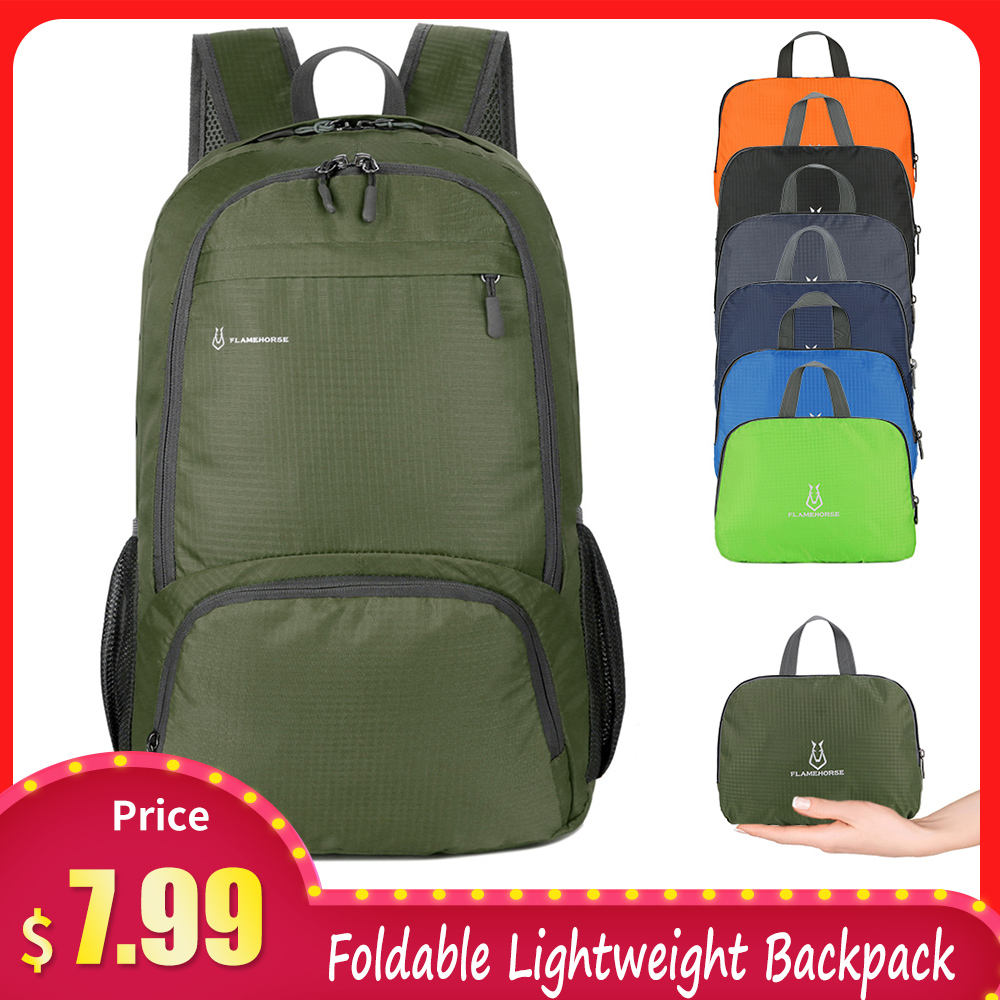 Foldable Lightweight Backpack Bags Men Women Waterproof Packable Backpack Bag Travelling Camping Working Hiking Running Bags