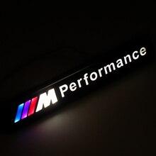Автомобиль Хром передний капот решетка эмблема светодиодный светильник для автомобильных фар для Bmw M производительность M3 M5 M6 X1 X3 X4 X5 X6 X7 E46 ...