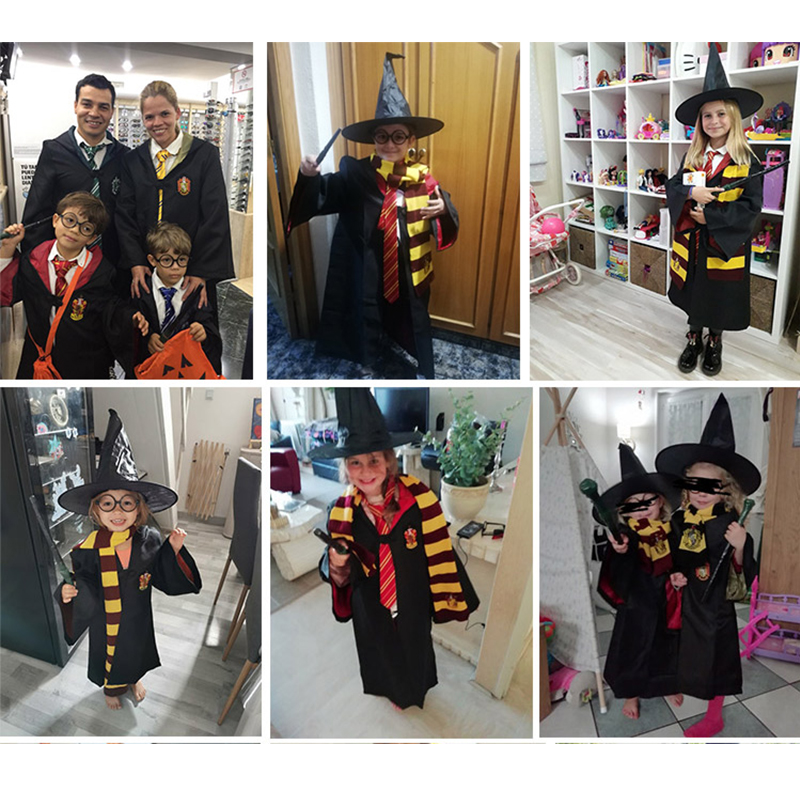 Hot Adult //kids  Cosplay Robe Cloak Gryffindor Slytherin Hufflepuff Costume Cape
