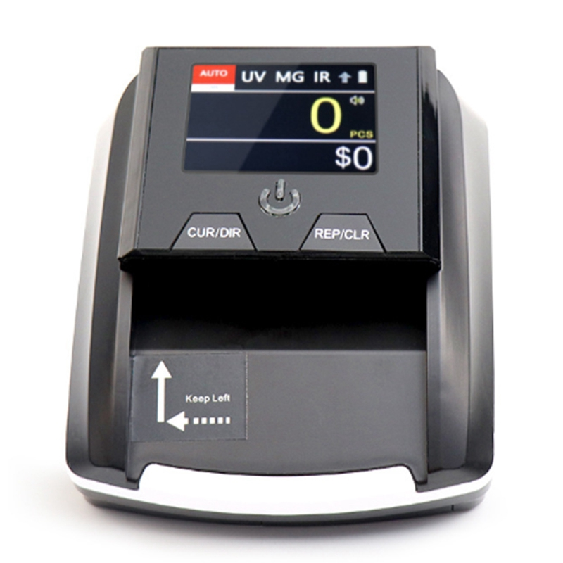 Portable Small Banknote Bill Detector Denomination Value Counter Counterfeit Money Detector Currency Cash Tester Machine EU Plug