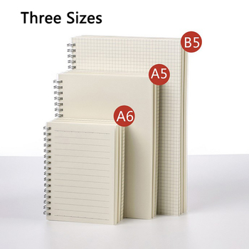 3Pcs A4/A5/B5 Loose Leaf Notebook Refill Spiral Binder Planner Inner Page Inside Paper Weekly Monthly Plan To do Line Dot grid 16 loose 15 page 3