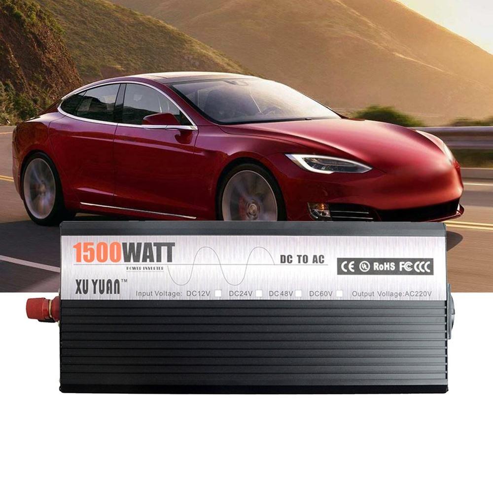 Piek 5000W 12 V 220 V Auto Power Inverter Converter Charger Adapter Zuivere Sinus met EU Plug intelligente bescherming - 6