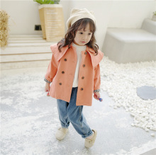 цена Children baby girl 2019 autumn new trench coats Korean style fashion Kids trench coat baby girl coat girls fall jacket онлайн в 2017 году