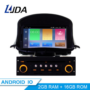 LJDA 1 din 7 Inch Android 10.0 Car DVD Player For Peugeot 206 206CC Auto Radio Audio Bluetooth Canbus GPS Navigation Quad Cores