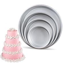 Round Cake Pan with Removable Bottom Anodized Aluminum Wedding Birthday Baking Tin Cheesecake Chiffon Mold