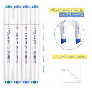 Image 4 - مانغا ماركر Touchnew الرسم قلم تحديد مزدوجة نهاية رسم ماركر 30/36/48/60/80/168 ألوان الرسم للمدرسة والفنان القلم