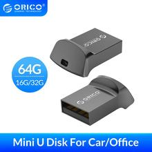 ORICO Mini USB Flash Drive Car USB Disk USB2.0 64GB 32GB 16GB USB2.0 Flash Memory Stick OTG U Disk For Phone/Tablet/PC флешка 2 in1 metal otg usb 2 0 flash drive 32gb 64gb memory storage stick u disk for phone otg pen drive for computer mobile rose gold