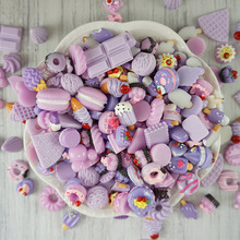 10pcs Popsicle Donut Macaron Charms for Slime Filler DIY Ornament Phone Decoration Lizun Mud Clay Supplies Toys E