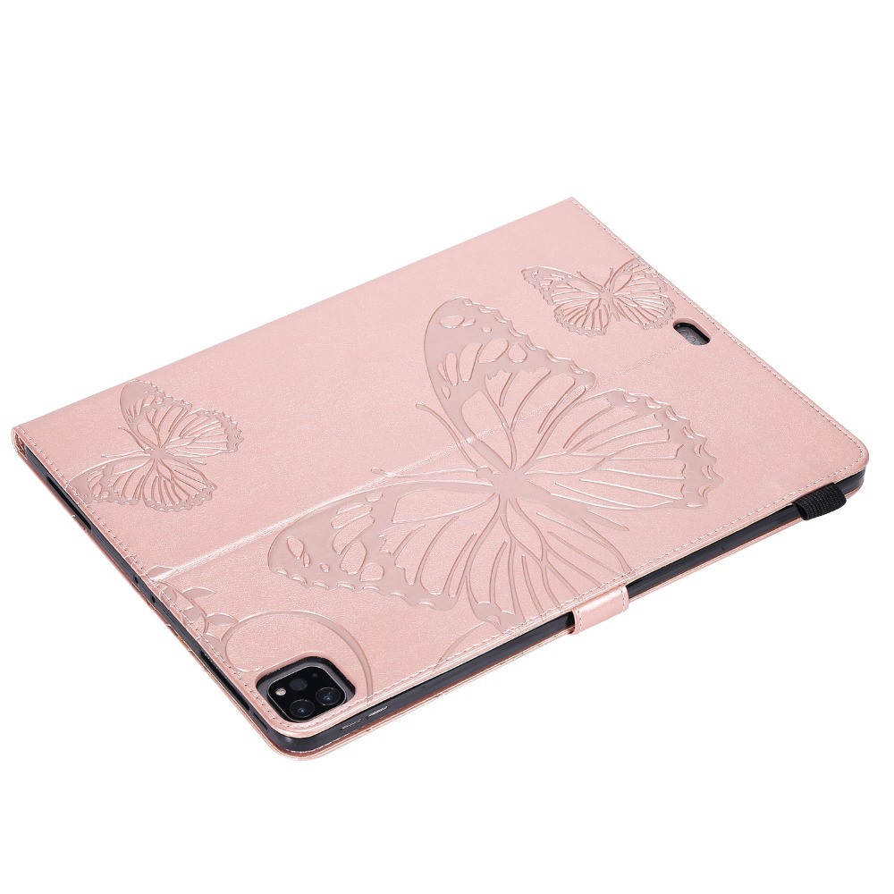 2018 Case Fundas Folding Butterfly Pro Tablet iPad 2020 Embossed 12.9 Cover Folio For